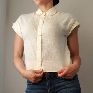 ASOS Cream Linen Shirt